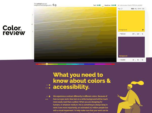 دسترسی پذیری رنگها در طراحی سایت - اکتااسکریپت